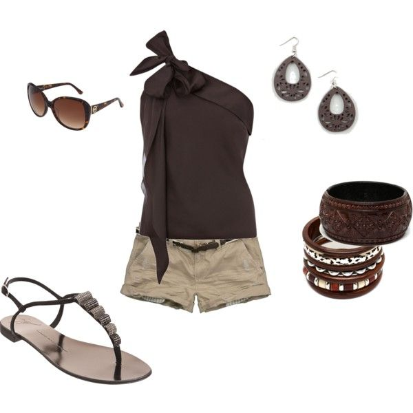 love the top.: Fashion, Style, Clothes, Dream Closet, Spring Summer, Summer Outfits, One Shoulder, Brown, Shoulder Top
