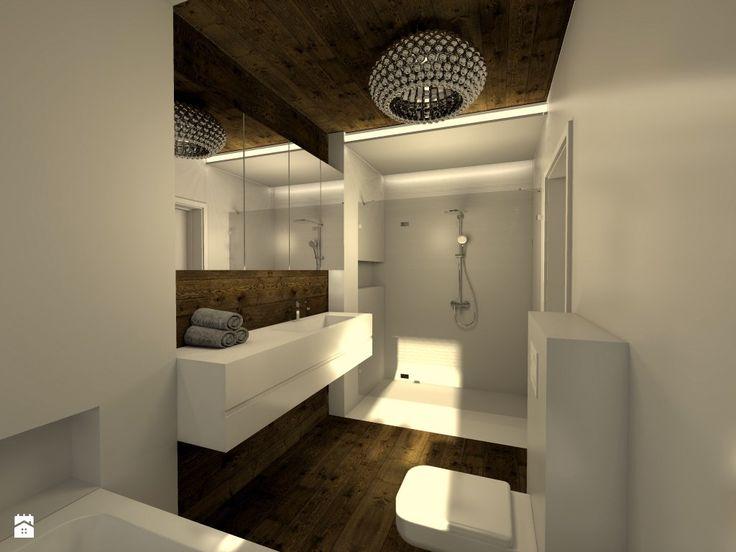 Łazienka - Styl Nowoczesny - V PROJEKT projektowanie wnętrz