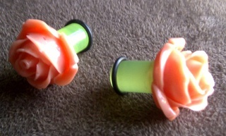 Convert earrings for guaged ears! #plug #plugged #guaged