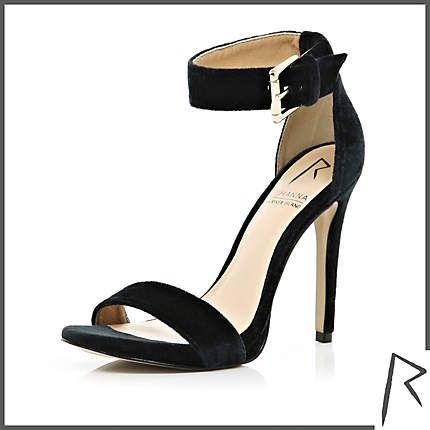 #RihannaforRiverIsland Black Rihanna velvet barely there sandals. #RIHpintowin click here for more details > http://www.pinterest.com/pin/115334440431063974/