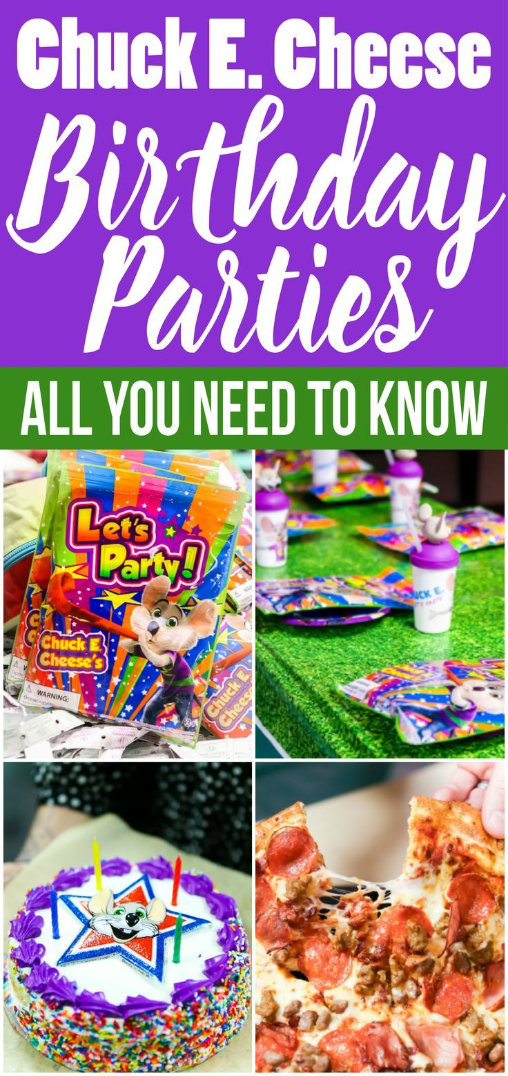 Everything you need to know about planning a Chuck E. Cheese birthday party! The menu, the prices, and what packages area available! [ad]