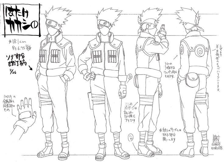 Naruto Character Design Sheet : Kakashi sensei s reference sheet manga tutorials