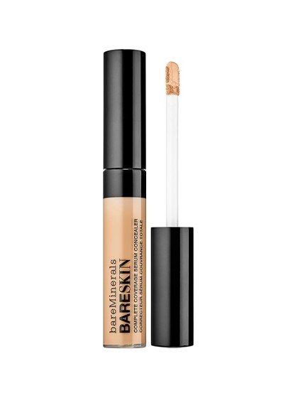 """BareMinerals BareSkin Serum Concealer may call itself a serum, but don't let the name and silky texture fool you. With mineral pigments that diffuse undereye shadows and cover blemishes, and moisturizers that keep it looking fresh for hours, the cover-up is no lightweight. —from """"Editors' Favorites"""""""