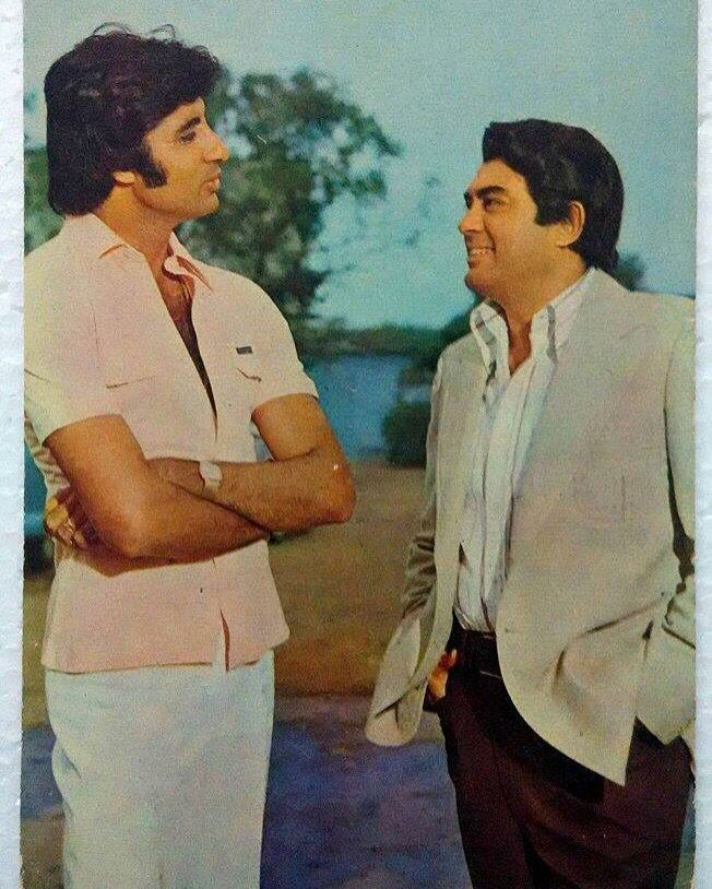 Two greats of #IndianCinema #AmitabhBachchan #SanjeevKumar  www.bollywoodirect.com