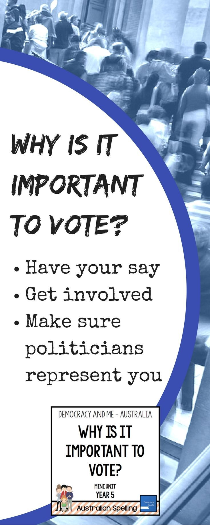Australian Government and Civics mini-unit for Year 5 - looking at why voting is important and why we should get involved in the political process