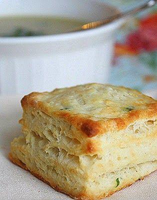 Buttermilk Biscuits with Fresh Parsley & Garlic
