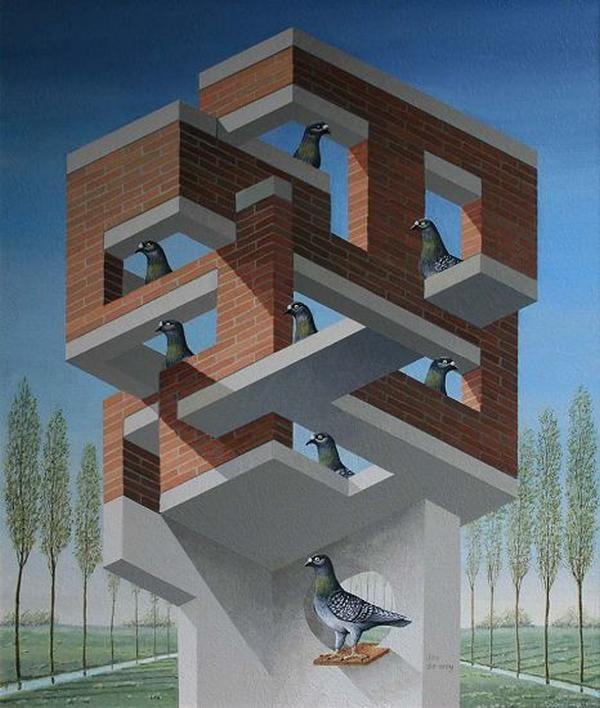 Perspective Illusion by Jos de Mey: