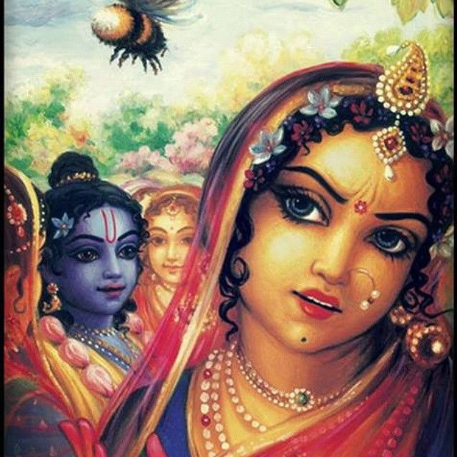Radharani's loving anger towards Krishna