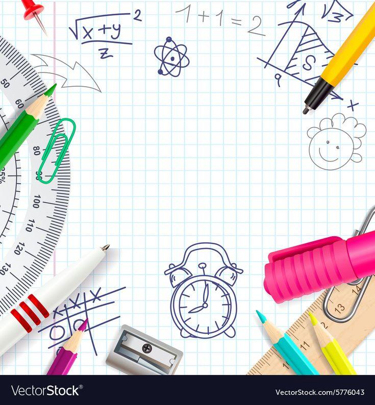 School creative background Royalty Free Vector Image