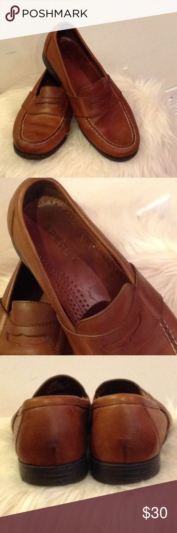 MENS SPERRY LOAFER SIZE 10 VERY NICE MENS BROWN SPERRY LOAFER. LEATHER. SIZE 10 Sperry Shoes Loafers & Slip-Ons