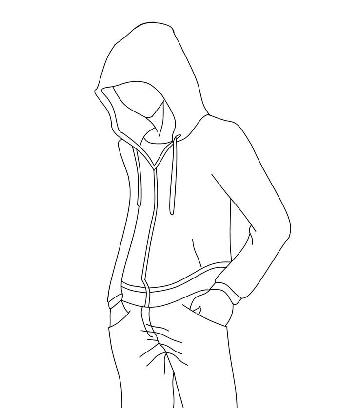 This is a graphic of Mesmerizing Guy In Hoodie Drawing