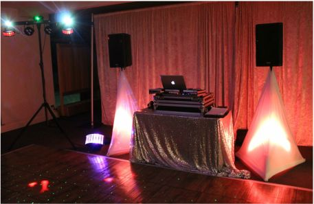 DJ Set up at a recent wedding at Patterson River Golf Club.