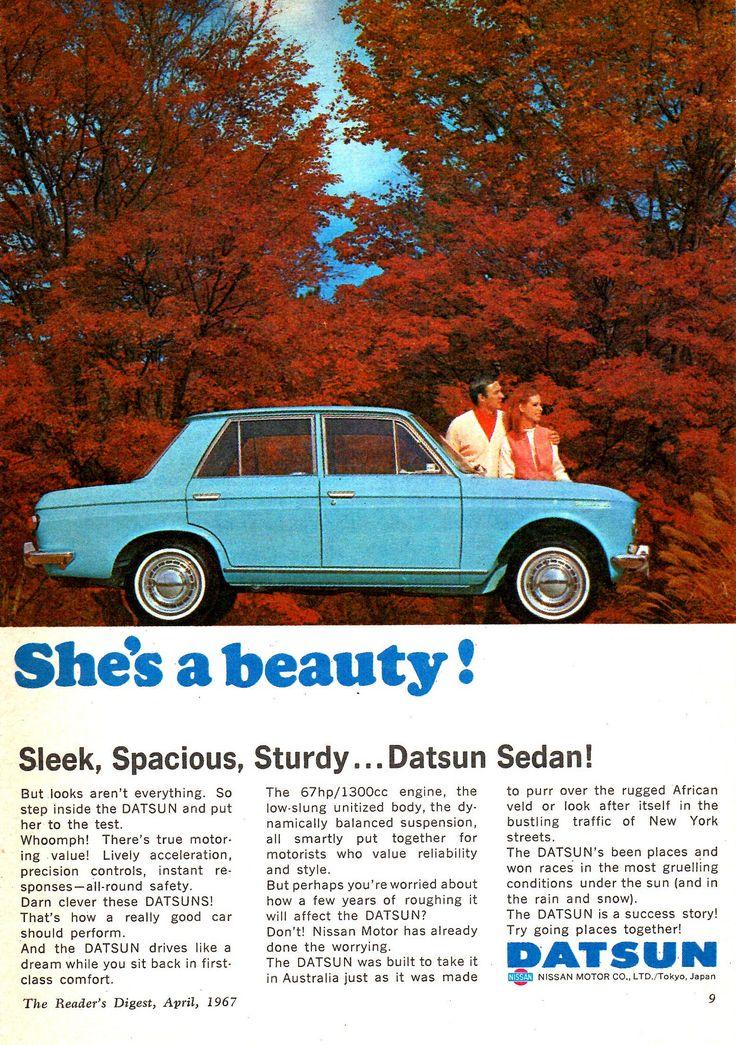 https://flic.kr/p/226nVEJ   1967 Datsun 1300 4 Door Nissan Aussie Original Magazine Advertisement