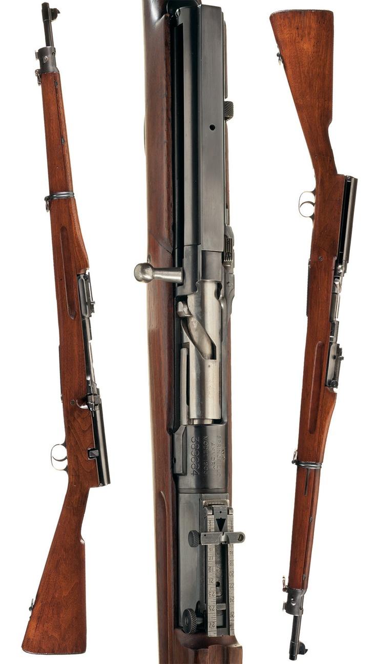 Semi-auto Springfield M1903 rifle (experimental)