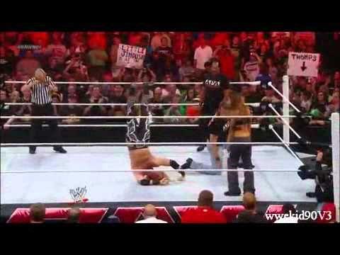 WWE Raw 7/23/12 - Bradshaw (JBL) Clothesline From Hell To Heath Slater