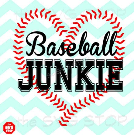 Baseball junkie design SVG and studio files for Cricut, Silhouette, Vinyl Cutters and Screen Printing by SVGstop on Etsy https://www.etsy.com/listing/221710858/baseball-junkie-design-svg-and-studio