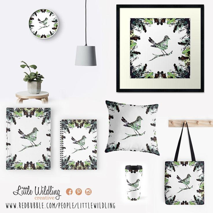 Little Wildling goodies now available on REDBUBBLE!