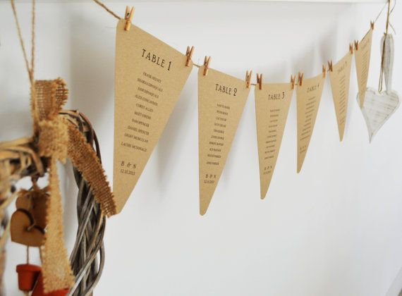 Hey, I found this really awesome Etsy listing at https://www.etsy.com/listing/165347749/6-rustic-bunting-seating-plan-cards