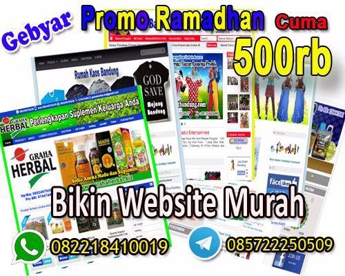 Alhamdulillah, tak terasa Hari ke 13 Gebyar Promo Ramadhan Bikin Website Murah Cuma 500rb Call Hp/Wa: 082218410019