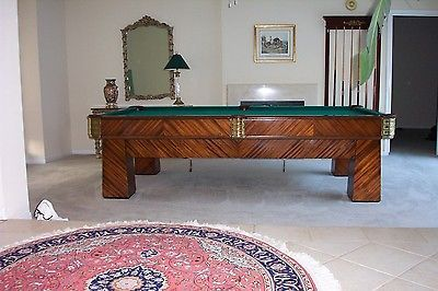 1930's Regulation Size Brunswick Metropolitan Pool Table