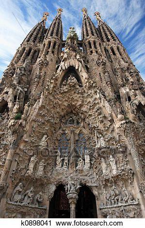 Sagrada Familia Barcelona Stock Image K0898041 Sagrada Familia Gaudi Cathedral Architecture