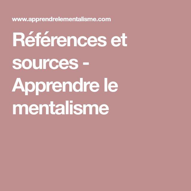 Références et sources - Apprendre le mentalisme