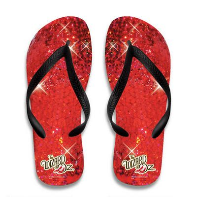 The Wizard of Oz Ruby Slippers Flip Flops. I have to find these!!!