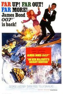 On Her Majesty's Secret Service film poster by Frank McCarthy