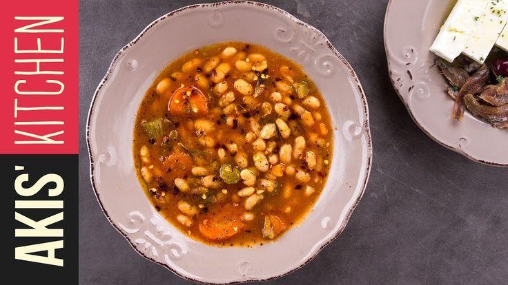 Greek White Bean Soup - Fasolada  | Akis Kitchen - YouTube