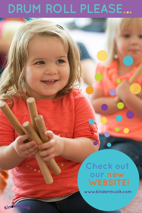 Drum roll please...check out our new website! www.kindermusik.com