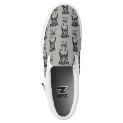 Owl Be Watching - Slip on Shoes - drawing sketch design graphic draw personalize