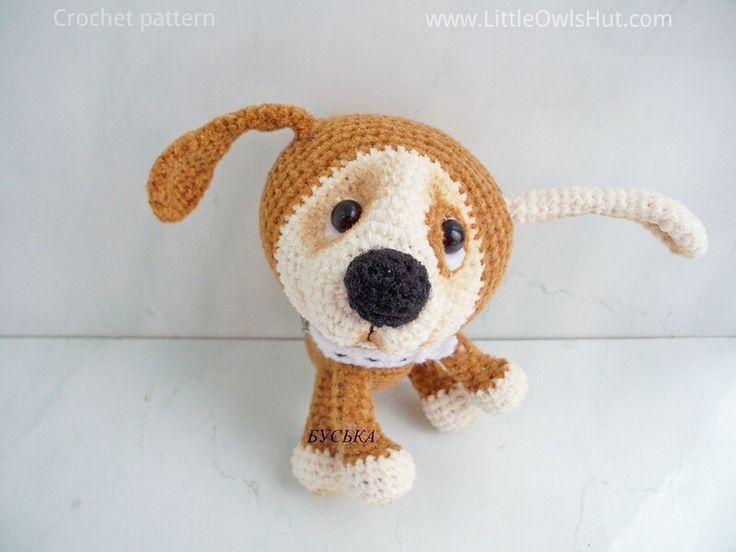 Project by Buska. Puppy with a collar crochet pattern by Pertseva for LittleOwlsHut. #LittleOwlsHut, #Amigurumi, #CrohetPattern, #Crochet, #Crocheted, #Puppy, #Pertseva, #DIY, #Craft, #Pattern