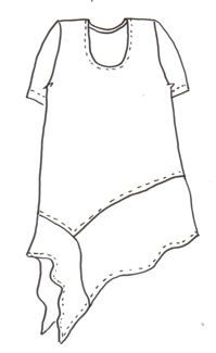 Alva Tunic-would be cute w sheer fabric (maybe lace) on the bottom