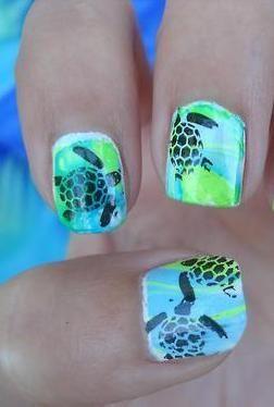 Turtle nail art