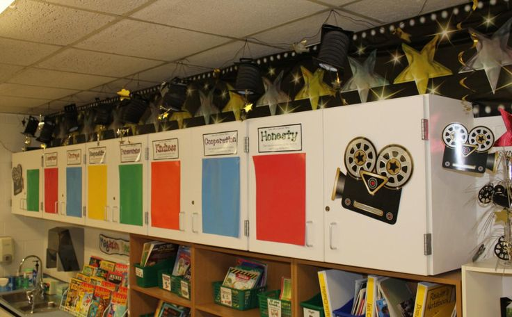 Hollywood Classroom Decor : Hollywood theme classroom clutter free