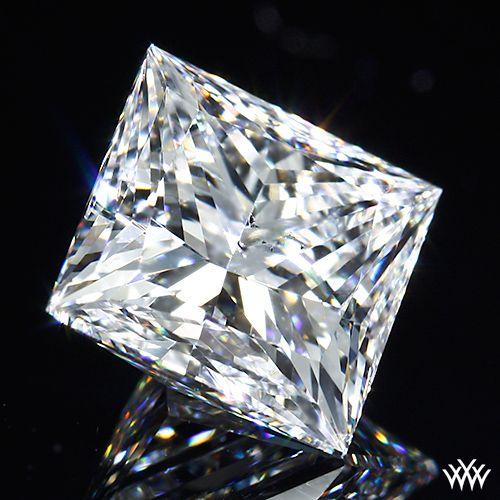 2.047 carat G color SI1 Clarity A CUT ABOVE® Super Ideal Princess Cut Diamond -  Hearts and Arrows Ideal Proportions and a AGS Diamond Report. Price* $17,035