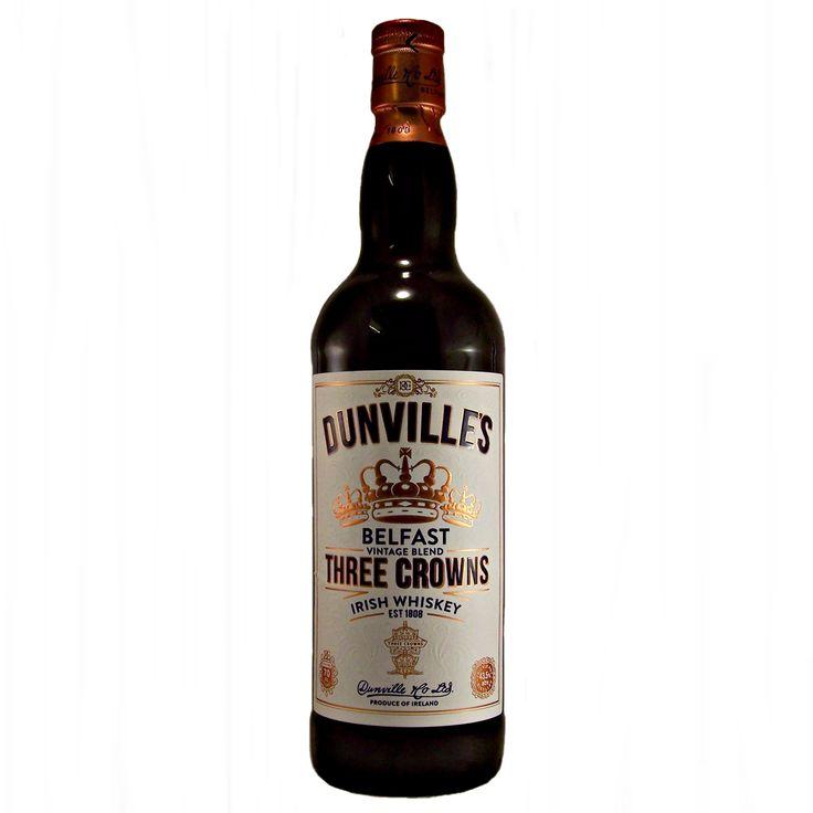Dunvilles Three Crowns Irish Whiskey Belfast Vintage Blend availabke to buy online at specialist whisky shop whiskys.co.uk Stamford Bridge York