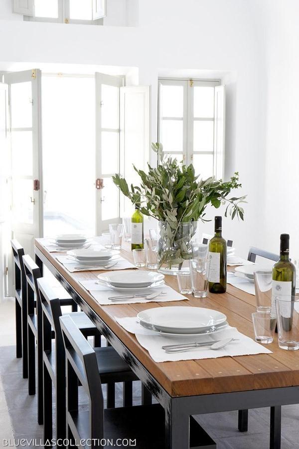 Villa Fabrica Dining Table   Luxury Villas in Santorini   Blue Villas Collection
