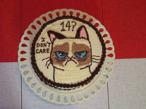 """I Don't Care That It's Your Birthday"" cake  by pottermouth on Craftster"