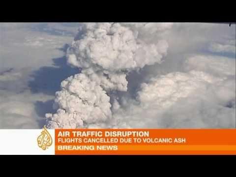 Volcano's ash cloud causes flight chaos across Europe