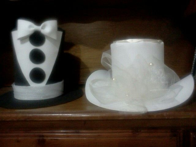 Sombreros fomi para novios