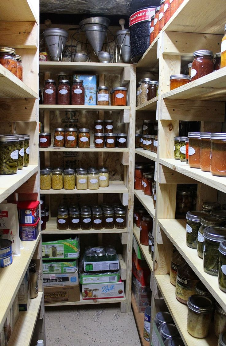 Cold Storage Shelves  Canning  Pantry  Storage in 2019