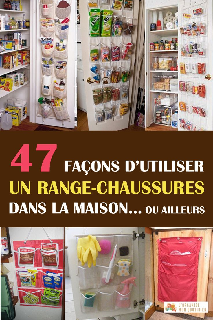 www.jorganisemonquotidien.com Des #astuces pour détourner un range-chaussures de sa fonction initiale. 47 façons de l'utiliser pour ranger tout sauf des chaussures ;)