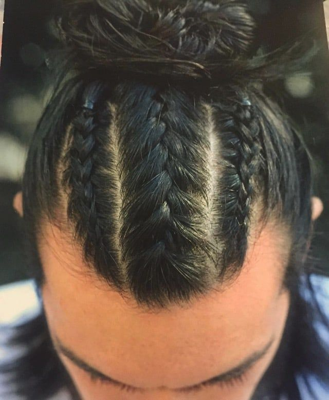 Find Your New Hairstyle And Get Differance This Year We Are Sharing With You Best Braided Man Bun On Check Our All Mens