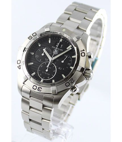 タグホイヤーアクアレーサー クロノグラフ グランドデイト 300m防水 ブラック メンズ CAF101EBA0821 -タグホイヤー時計コピー