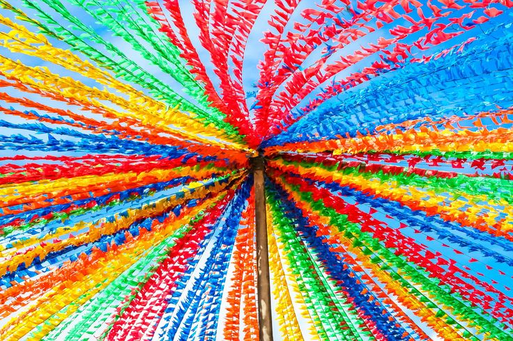 Flags in the wind - Photography held on São João in Aracaju - Sergipe - Brazil.