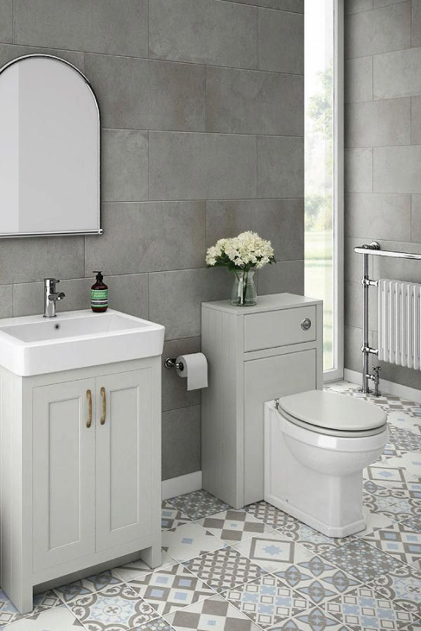 How Would A Modern Traditional Grey Bathroom Look In Your Home This Exquisite Small Grey Bathroo With Images Grey Bathroom Tiles Light Grey Bathrooms Small Grey Bathrooms