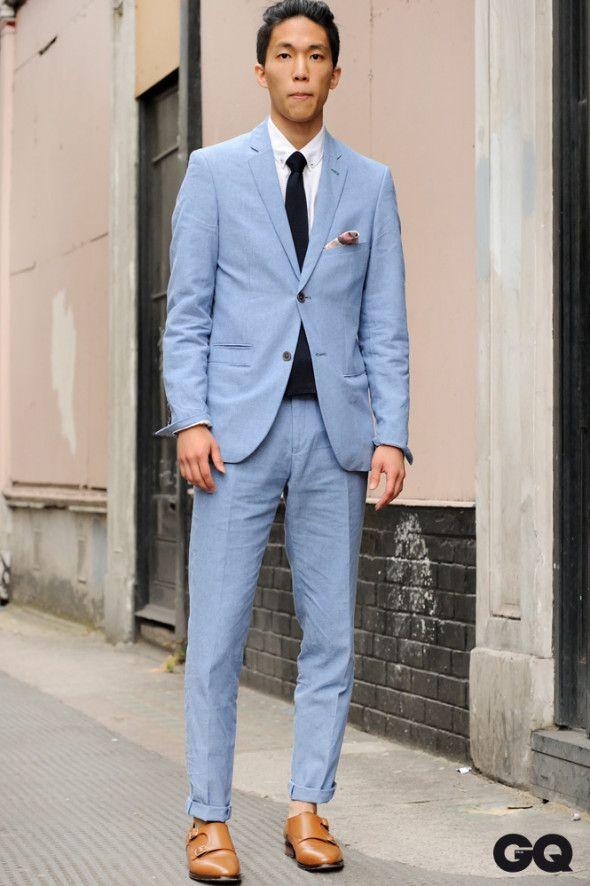34 best Light Blue images on Pinterest | Men fashion, Men's suits ...