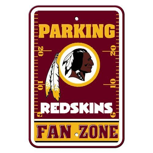 NFL Washington Redskins Plastic Parking Signs by BSI. $6.04. Great for home office or dorm. Durable Styrene Construction. Officially licensed NFL product.. Show your team spirit proudly with this 12-by-18 inch Fan Zone Parking Signs. Each 12-by-18 inch parking sign is made of durable styrene. The officially licensed magnets are decorated in the team colors, great for decorating home, office or dorm.. Save 66% Off!