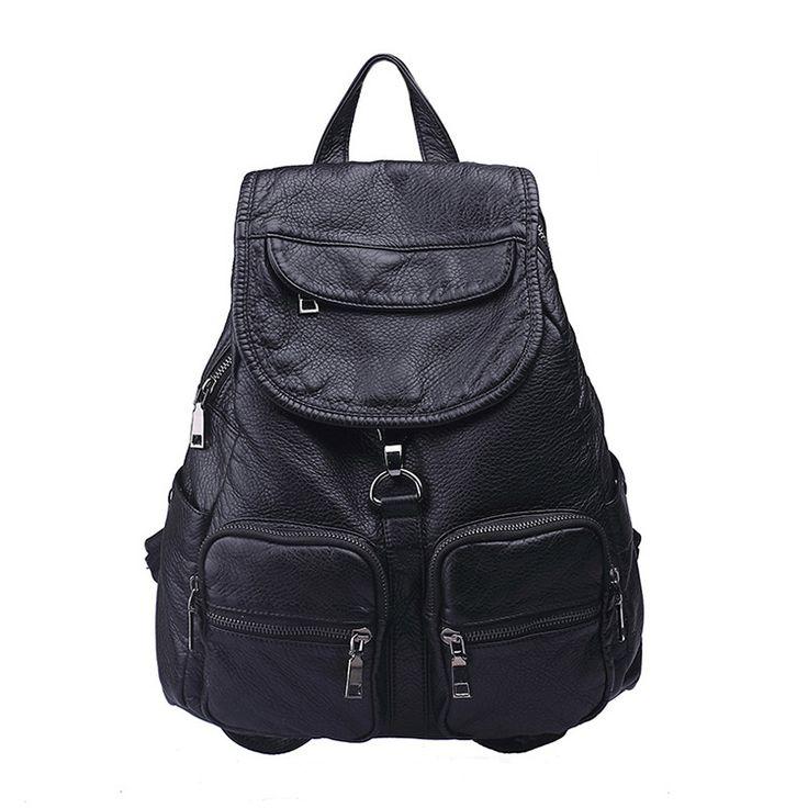 Mochilas de cuero natural suave nueva original mochila de viaje económico [AL93051] - €44.26 : bzbolsos.com, comprar bolsos online
